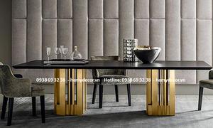 Nhận gia công bàn ăn inox mạ màu vàng Gold tại Gò Vấp