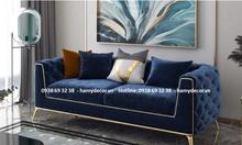 Địa chỉ bán ghế sofa tân cổ điển màu xanh dương giá rẻ tại TP.HCM