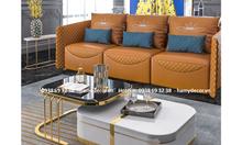 Bàn trà đôi inox mạ màu đẹp hiện đại giá rẻ cho căn hộ cao cấp TP.HCM