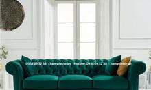 Top 5 mẫu ghế Sofa tân cổ điển bọc vải nhung cao cấp cho biệt thự