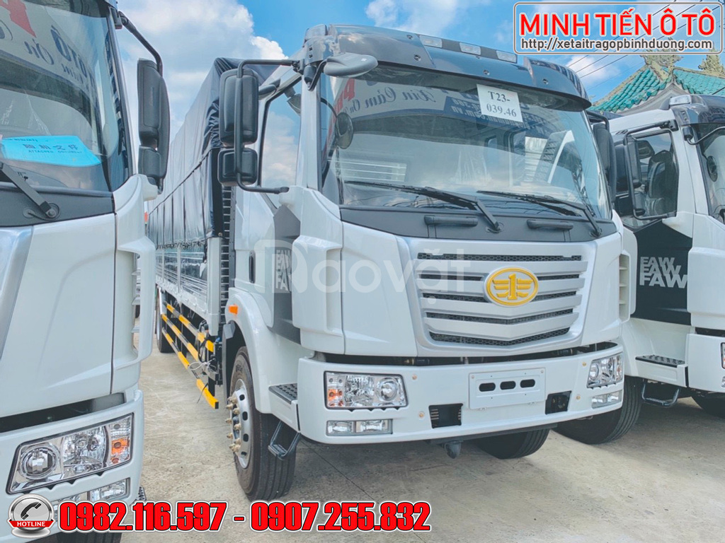 Xe tải 8 tấn thùng 10 mét chở palets gỗ mút xốp giấy carton