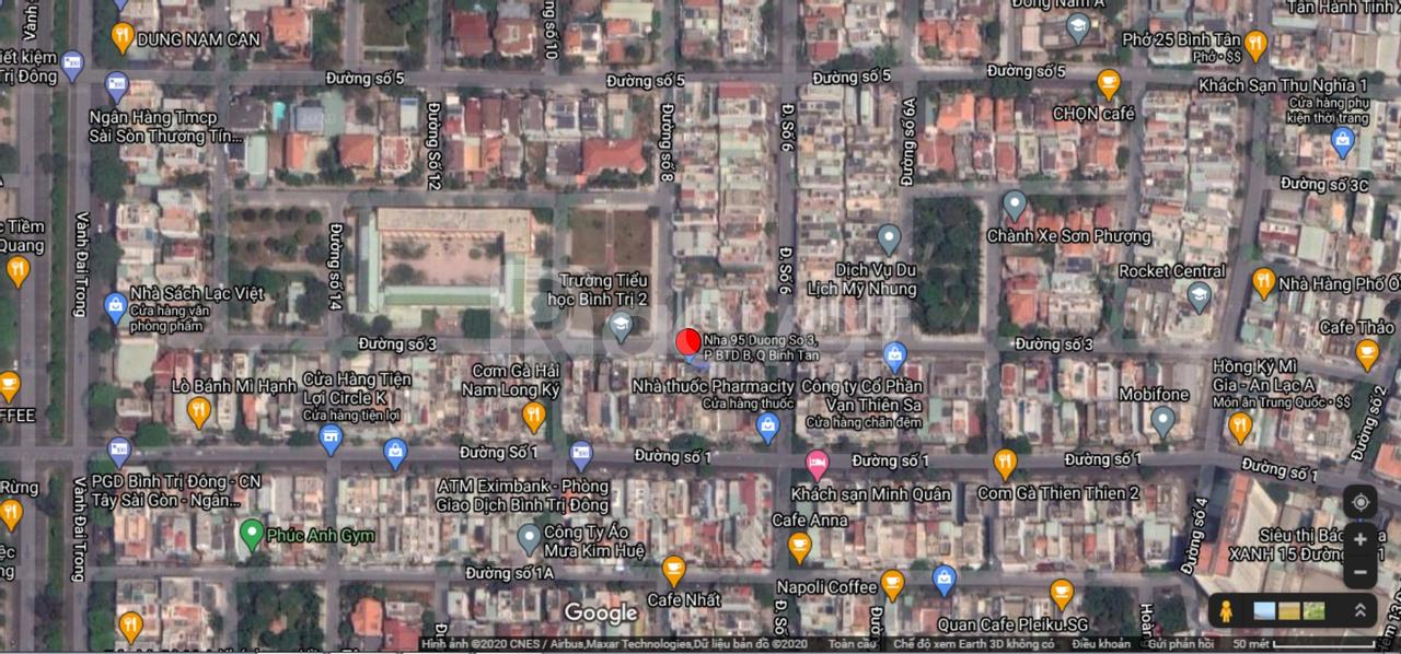 Cho thuê nhà mặt tiền Bình Trị Đông B, Bình Tân
