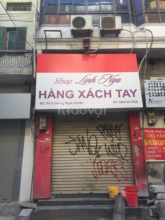 Cho thuê cả nhà 4 tầng mặt phố Lương Ngọc Quyến