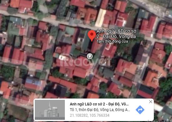 Bán đất thổ cư sổ đỏ chính chủ Đại Độ Võng La, Đông Anh, Hà Nội
