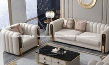 Cửa hàng bán ghế sofa băng tân cổ điển màu xám giá rẻ TP.HCM