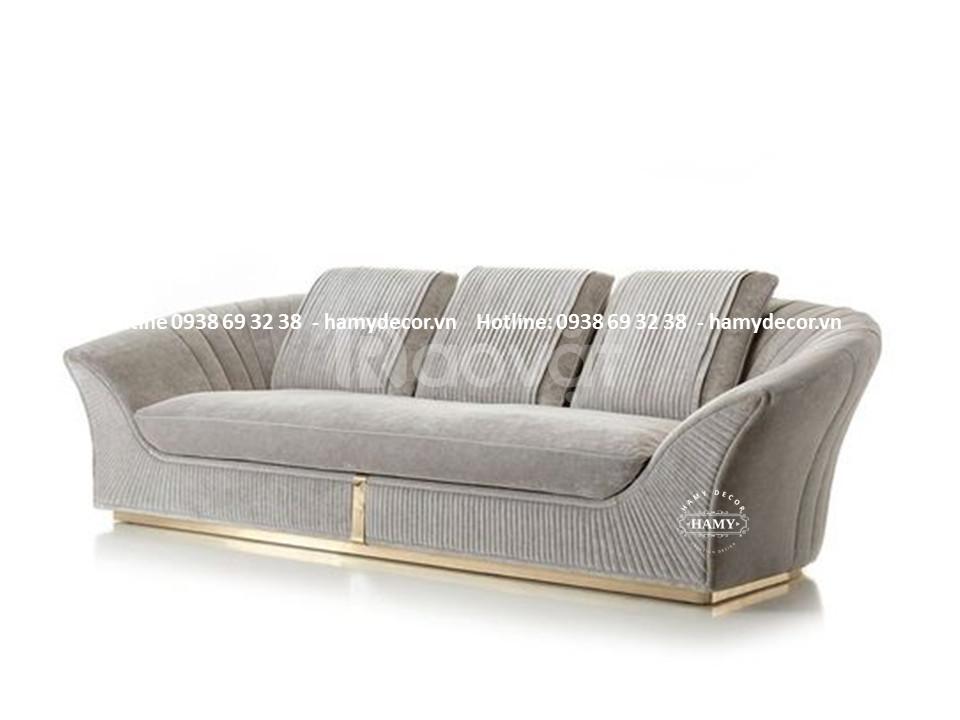 Mẫu ghế sofa tân cổ điển đẹp sang trọng phong cách độc lạ cho biệt thự