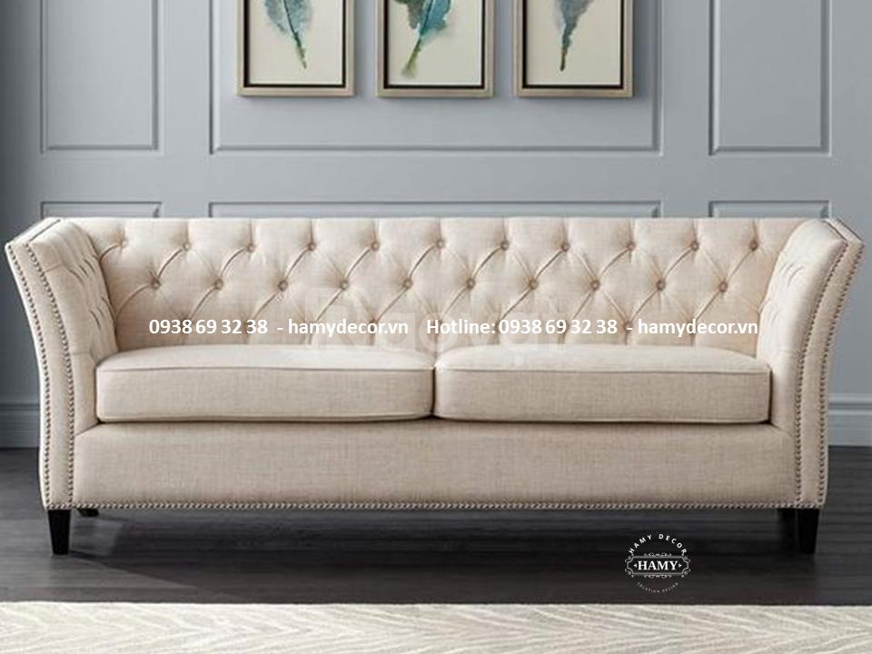 Mẫu ghế sofa tân cổ điển 2 chỗ ngồi đẹp, sang chảnh cho phòng khách