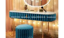 Cửa hàng bán bàn trang điểm chân inox mạ vàng đẹp sang tại TP.HCM