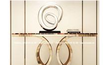 Top 5 mẫu bàn Console mặt đá chân inox mạ vàng đẹp sang trọng tại HCM