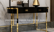 Cửa hàng bán tủ trang trí Console inox mạ vàng Gold đẹp sang tại Q.2