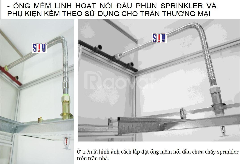 Dây ống mềm cho đầu phun chữa cháy sprinkler 700mm,1000mm,1200mm