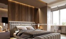 Mẫu giường ngủ bọc vải đầu giường đẹp sang trọng phong cách hiện đại