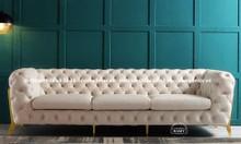 Mẫu ghế sofa băng tân cổ điển bọc Simili sang trọng cho nhà phố căn hộ