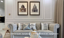 Mẫu ghế sofa tân cổ điển bọc vải nhung đẹp sang chảnh cho phòng khách