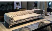 Mẫu ghế sofa tân cổ điển chân inox mạ vàng đẹp được yêu thích 2021