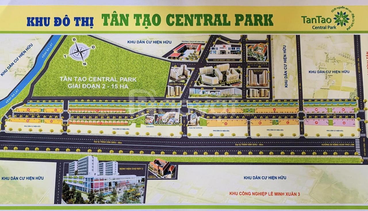 Mở bán 30 nền đất khu đô thị tân tạo Central Park TP.HCM