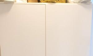 Tủ sách, tủ hồ sơ 1m2 x 2m bằng gỗ, màu trắng, đẹp