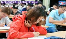 Tuyển sinh khóa học chứng chỉ sơ cấp online