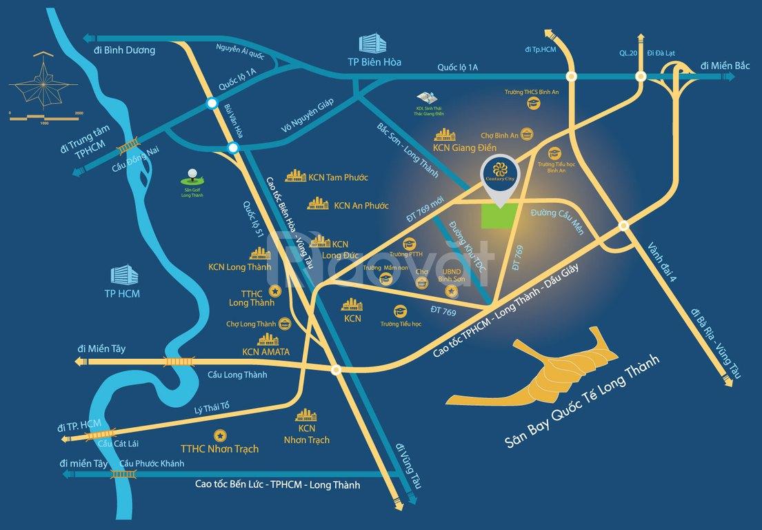 Khu đô thị Century City của ngõ sân bay Quốc tế Long Thành