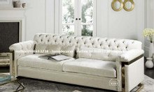 Địa chỉ bán ghế sofa tân cổ điển chân inox mạ vàng đẹp sang tại TPHCM