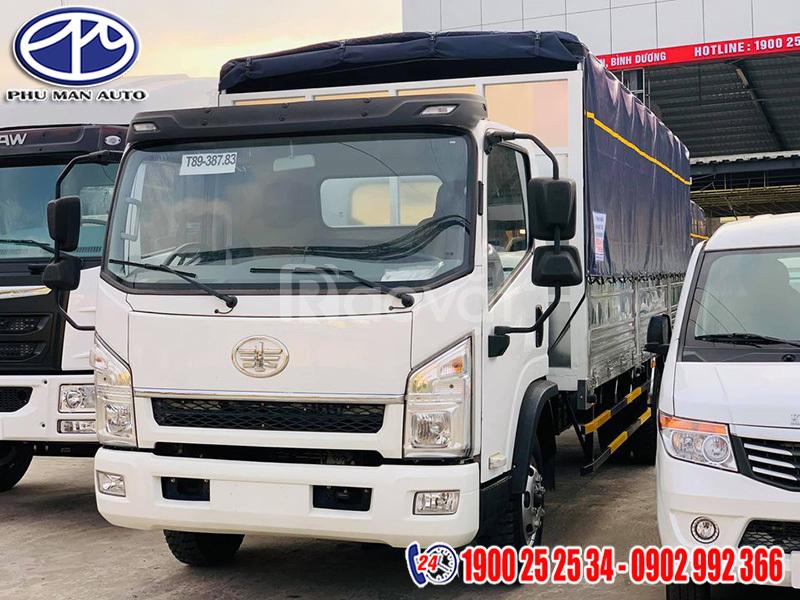 Bán xe tải faw 7t25 thùng dài 6m2 ga cơ trả góp