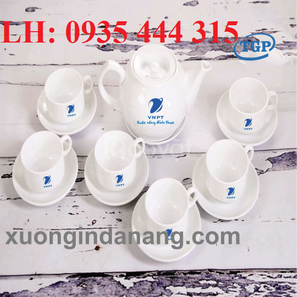 Cung cấp bộ ấm trà in logo công ty, quà tặng giá rẻ ở Đà Nẵng