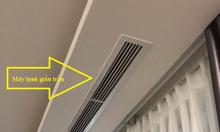 Máy giấu trần Daikin hoạt độngdựa trên nguyên tắc thổi khí lạnh qua