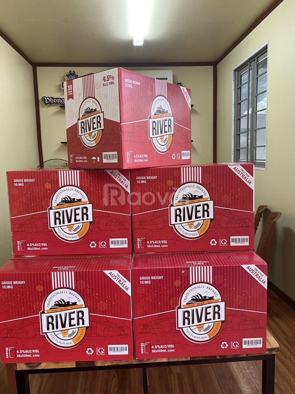 Phân phối bia River đỏ thùng 30 lon, tết