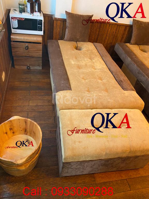 Ghế massage chân bọc nỉ sang trọng bắt mắt