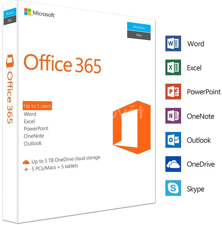 Phần mềm Office 365 kèm 5TB Onedrive