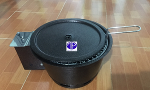 Bếp nướng than hoa âm bàn có quạt thổi than BN 05