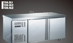 Tủ lạnh đông để bàn 2 cánh inox