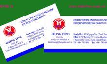 In card visit giá rẻ, không hạn chế số lượng lấy nhanh ở Hà Nội