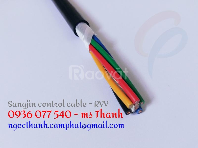 Cáp điều khiển Sangjin 7Cx0.75 SQM, cáp điều khiển mèm lõi đồng RVV
