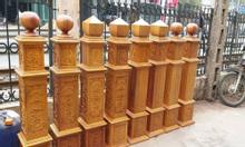 Trụ cầu thang gỗ TP HCM