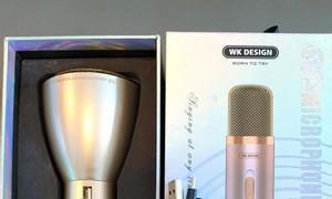 Micro Bluetooth WK WT-K10 màu gold còn mới, xài tốt