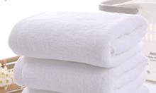 Khăn tắm cotton lớn, màu trắng, còn mới, tốt