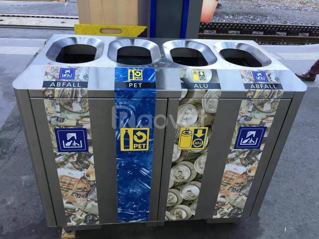 Thùng rác cho sân bay, khu chung cư, TTTM thân thiện môi trường