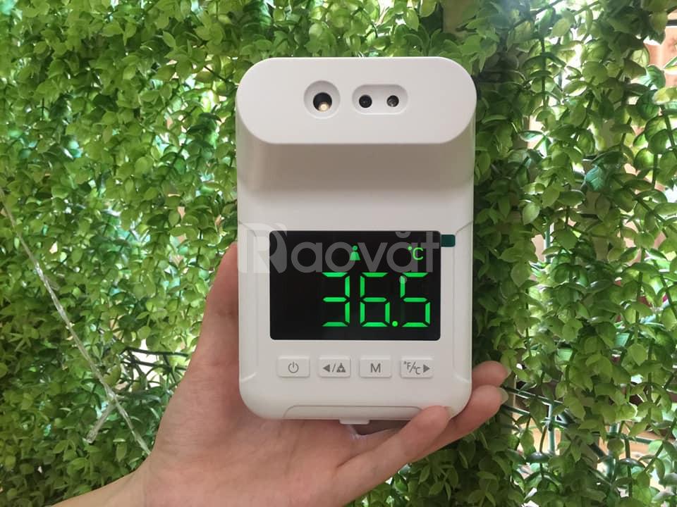 Máy đo thân nhiệt tự động tại trường học, xe bus, nhà ăn, nhà máy,...