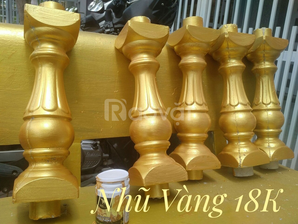 Sơn nước nhũ vàng sơn tượng Phật, sơn chậu kiểng, thạch cao,...