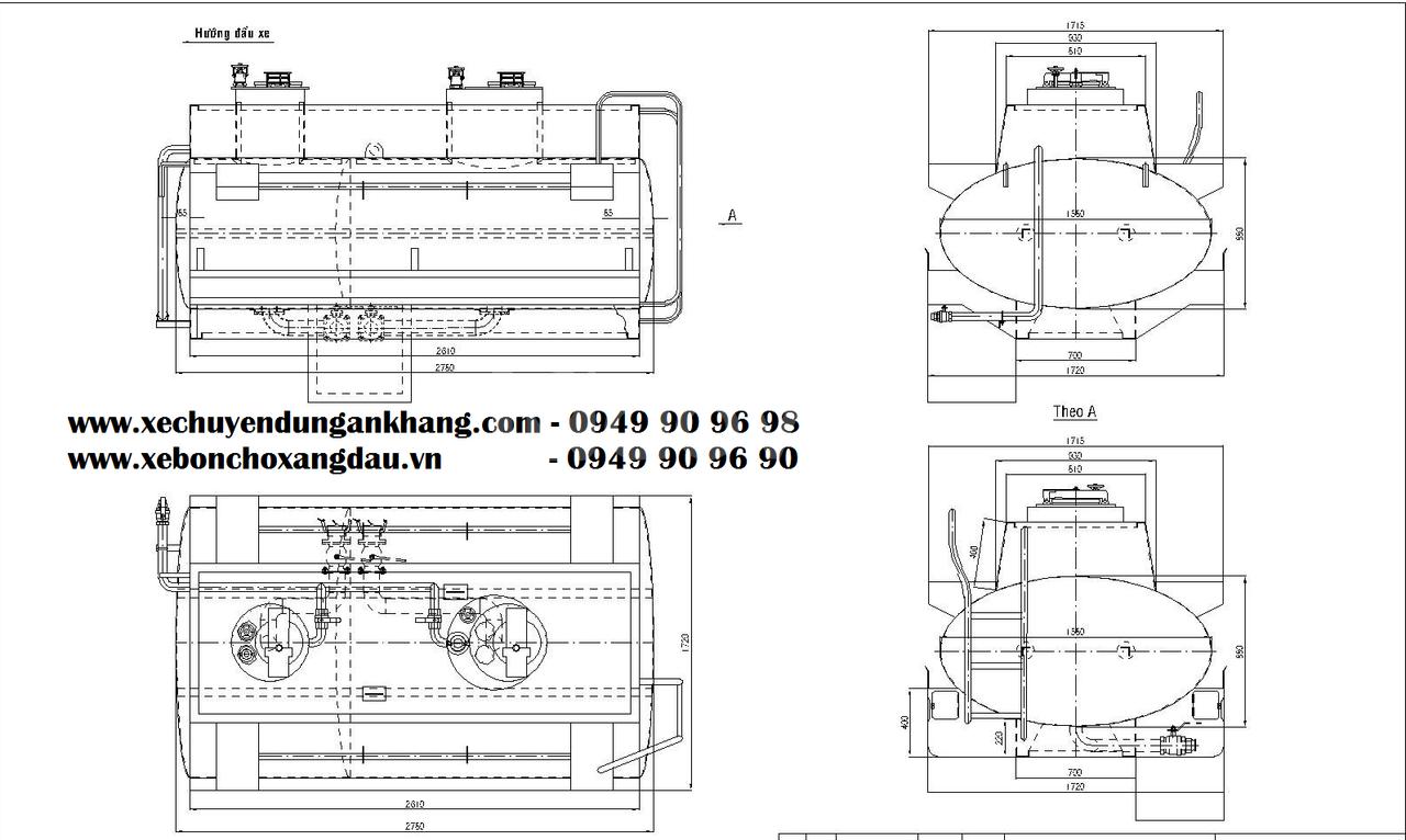 Giá xe bồn 3 khối Isuzu QKR77FE4