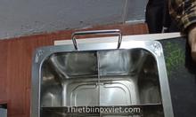 Nồi lẩu inox 4 ngăn nhà hàng lẩu nướng giá rẻ