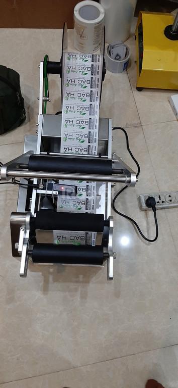 Máy dán nhãn decal trong suốt, máy dán nhãn chai nhựa, máy dán nhãn
