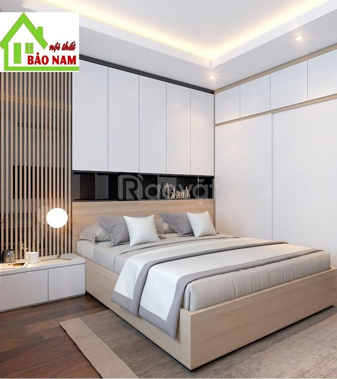 Trọn bộ phòng ngủ hiện đại đẹp, thi công nội thất phòng ngủ Tp.HCM