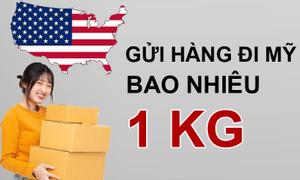Gửi hàng đi Mỹ 1kg bao nhiêu