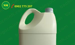 Can nhựa 3,6 lít đựng nước rửa chén, can nhựa hdpe màu trắng sữa đẹp