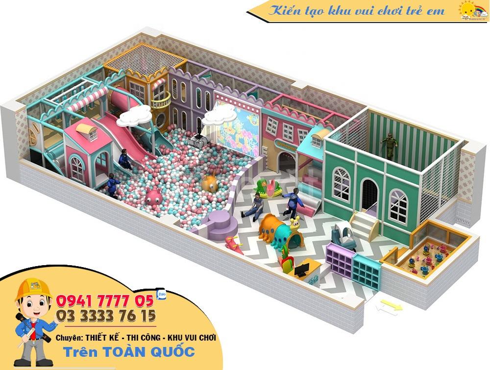 Thiết kế khu vui chơi trẻ em 50m2 - 100m2