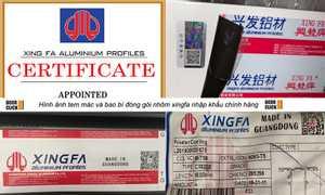 Cửa nhôm xingfa nhập khẩu tem đỏ Quảng Đông