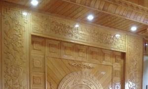 Ốp vách gỗ, trần gỗ tự nhiên