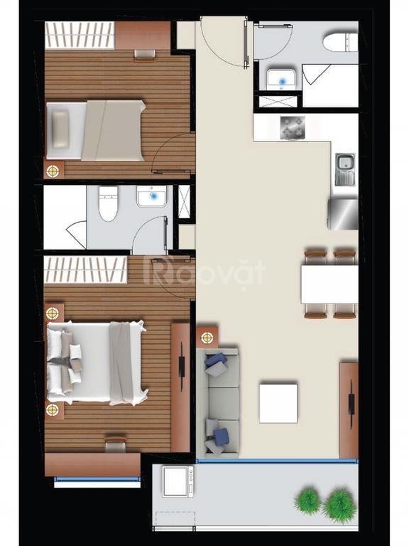 Bán gấp gấp gấp căn hộ Q.7, 2PN, 2WC